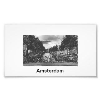 Amsterdam, city of canals and cycles photo print