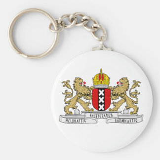 Amsterdam Coat of Arms Basic Round Button Key Ring