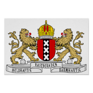 Amsterdam Coat of Arms Poster