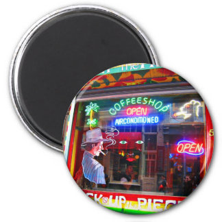 Amsterdam Coffee Shop 6 Cm Round Magnet