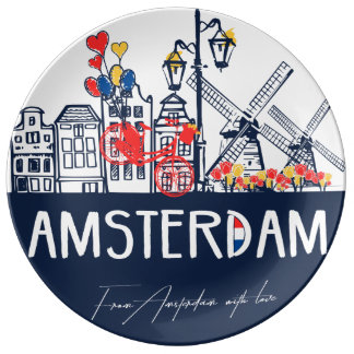 Amsterdam decorative plate