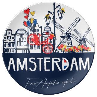 Amsterdam decorative plate porcelain plates