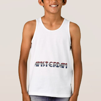 Amsterdam Dutch Flag Colors Netherlands Typography Singlet