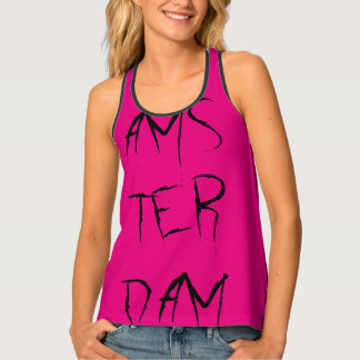 Amsterdam Dutch The Netherlands black pink Top