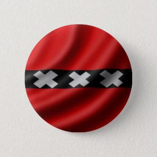 Amsterdam Flag 6 Cm Round Badge