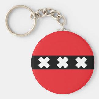 Amsterdam Flag Key Ring