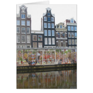 Amsterdam Flower Market (Bloemenmarkt) Photo Card