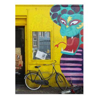 Amsterdam Graffiti Street Art Nr. 4 - Snake Postcards