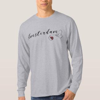 Amsterdam Heart Tee Shirt, Dutch Holland