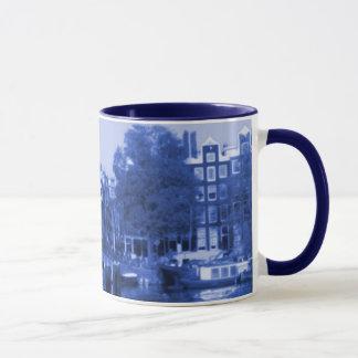 Amsterdam Holland Cityscape Delft-Blue-Look Mug