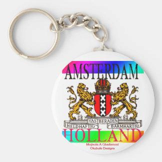 AMSTERDAM HOLLAND KEYCHAIN@MOJISOLA A GBADAMOSI OK KEY RING