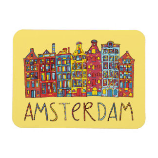 Amsterdam In Mosaic Magnet