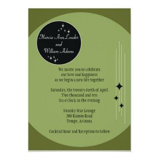 Amsterdam Invite: Olive 13 Cm X 18 Cm Invitation Card