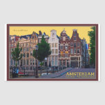 Amsterdam-Keizersgracht Centrum Rectangular Sticker