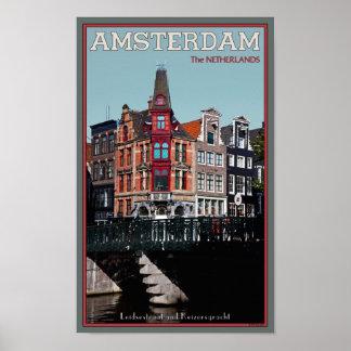 Amsterdam - Leidsestraat - Keizersgracht Posters