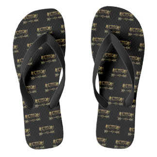 Amsterdam Love Dutch Black and Gold Typography Thongs