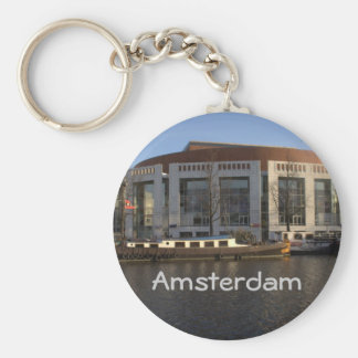 Amsterdam Music Hall Basic Round Button Key Ring