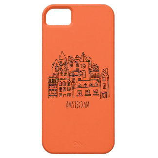 Amsterdam Netherlands Holland City Souvenir Orange Case For The iPhone 5