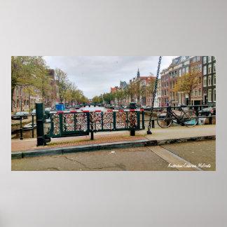 Amsterdam, Netherlands Love Lock Bridge Poster
