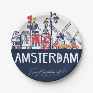 Amsterdam paper plates 7 inch paper plate