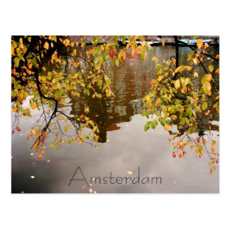 Amsterdam reflection post card