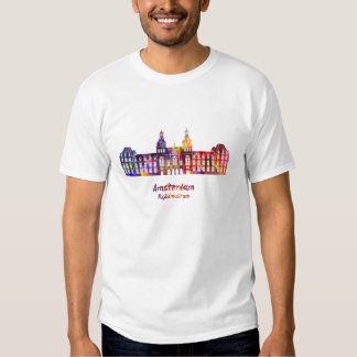 Amsterdam Rijksmuseum Landmark in watercolor Tee Shirt