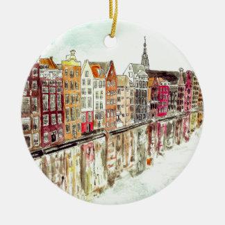 Amsterdam Round Ceramic Decoration
