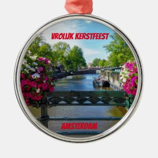 Amsterdam Scenic Bridge Christmas Ornament
