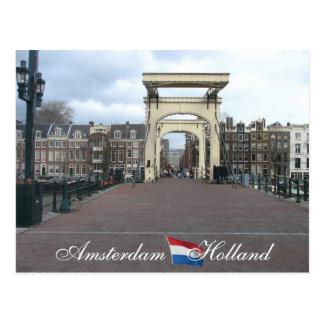 Amsterdam Skinny Bridge Postcard