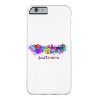 Amsterdam skyline in watercolor barely there iPhone 6 case