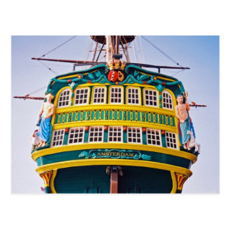 Amsterdam Tall Ship Postcard