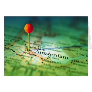 AMSTERDAM Vintage Map Card