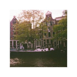 Amsterdam Waterfront Canvas Reproduction Canvas Print