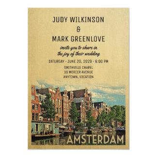 Amsterdam Wedding Invitation Netherlands Holland