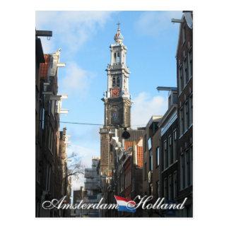 Amsterdam Westerkerk Western Church Holland Postcard