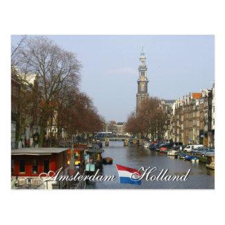 Amsterdam Western Church Holland Postcard