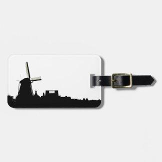 Amsterdam windmill luggage tag