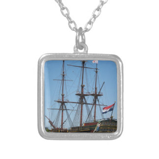 Amsterdam wooden sail ship VOC - Range Silver Plated Necklace