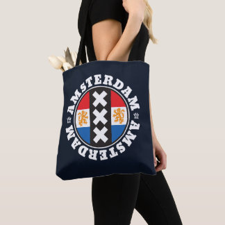 Amsterdam XXX City Symbol with Dutch Flag Tote Bag