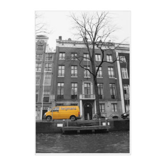 Amsterdam yellow acrylic wall art
