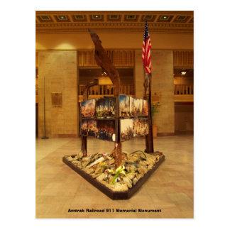 Amtrak Railroad 911 Memorial Monument Postcard