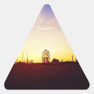 Amuesment Park Sunset Triangle Sticker