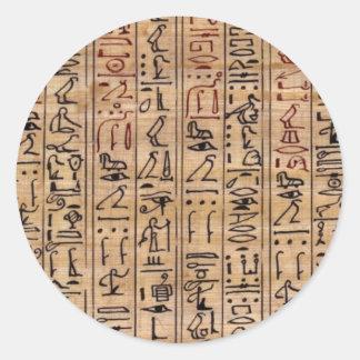 Amulet Hieroglyphs Round Sticker