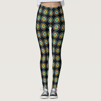 Amulet of Zion Occult Tile Pattern Leggings
