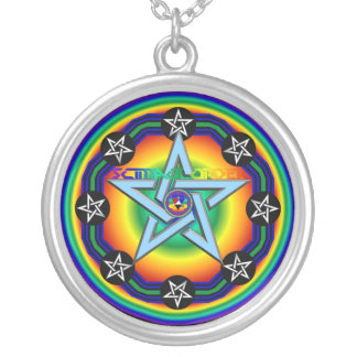 Amulet of Zion Protection Silver Plated Necklace