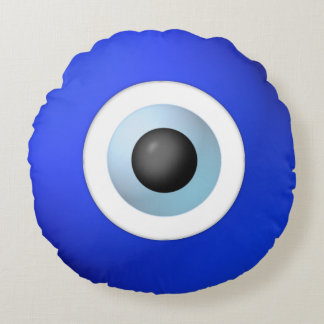 Amulet to Ward off the Evil Eye Round Cushion