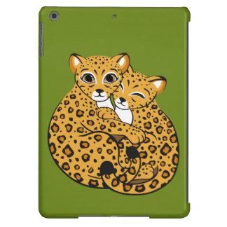 Amur Leopard Cubs Cuddling Art iPad Air Cover