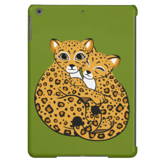 Amur Leopard Cubs Cuddling Art iPad Air Cover