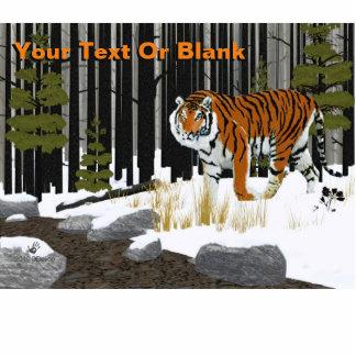 Amur (Siberian) Tiger Photo Sculpture Magnet
