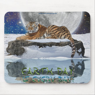 Amur Tiger Earth Day Wildlife Protection Mousepad